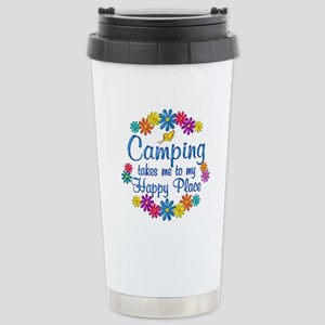 Camping Happy Place Stainless Steel Travel Mug