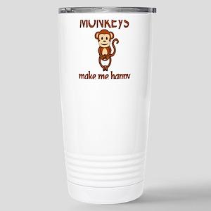 Monkey Happy Stainless Steel Travel Mug