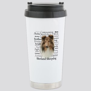 Sheltie Traits Stainless Steel Travel Mug