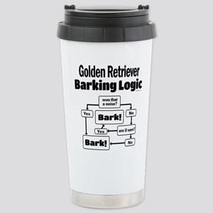 Golden Retriever Logic Stainless Steel Travel Mug