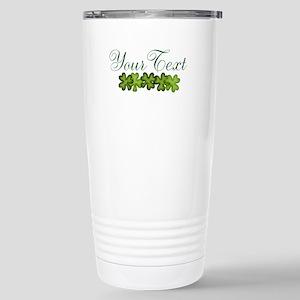 Personalizable Shamrocks Travel Mug