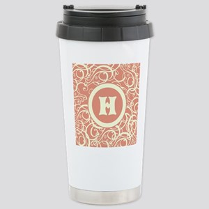 Pink Personalized Monogram Initial Travel Mug