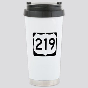 US Route 219 Stainless Steel Travel Mug