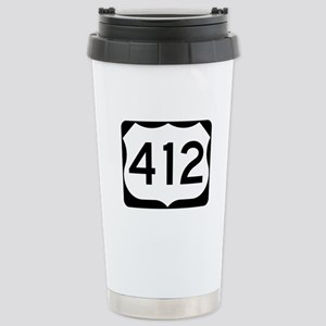 US Route 412 Stainless Steel Travel Mug