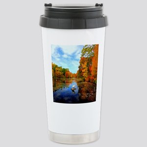 Connecticut Fall Colors Stainless Steel Travel Mug