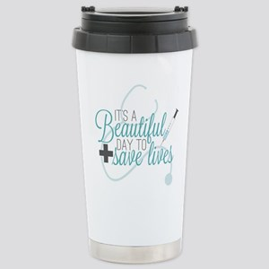 Grey's Anatomy: A 16 oz Stainless Steel Travel Mug