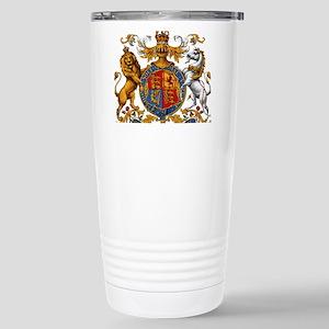 British Royal Coat of A Stainless Steel Travel Mug