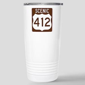 Scenic 412, Oklahoma, U Stainless Steel Travel Mug