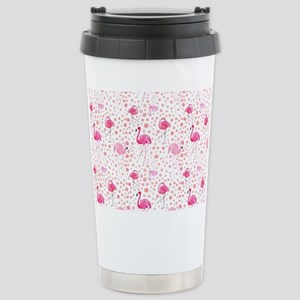 Pink Flamingos and dots pattern Mugs