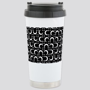Rolling Crescent black Stainless Steel Travel Mug