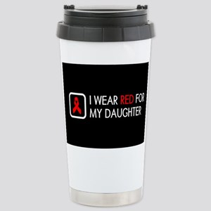 Red Ribbon: Red for my Stainless Steel Travel Mug