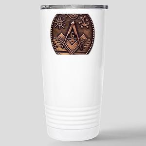 Bronze Freemasonry Stainless Steel Travel Mug