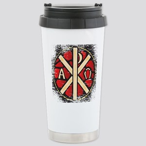 Alpha Omega Stained Gla Stainless Steel Travel Mug