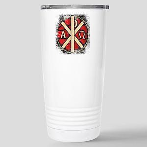 Alpha Omega Stained Gla Stainless Steel Travel Mug