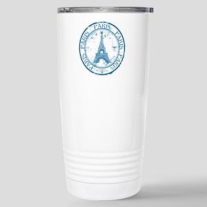 Paris travel stamp Stainless Steel Travel Mug