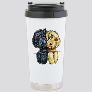 Labradoodles Lined Up Travel Mug