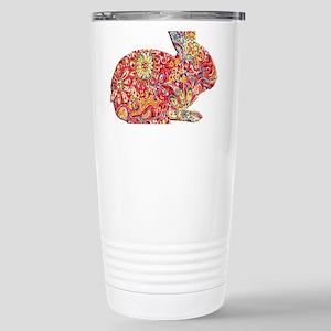 Colorful Floral Easter Bunny Travel Mug