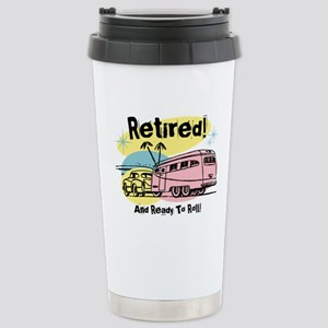 Retro Trailer Retired Stainless Steel Travel Mug