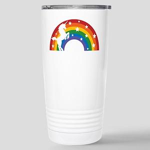 Retro Rainbow Unicorn Stainless Steel Travel Mug