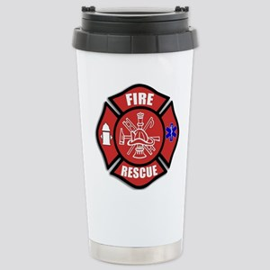 Fire Rescue Stainless Steel Travel Mug