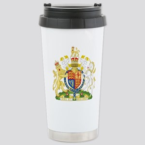 United Kingdom Coat Of Arms Stainless Steel Travel