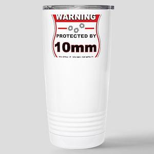 protected by 10mm shield Travel Mug
