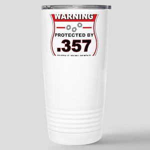 protected by 357 shield Travel Mug