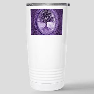Tree of Life in Purple Travel Mug