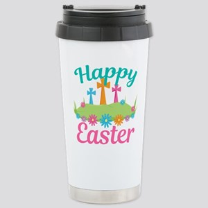 Happy Easter 16 oz Stainless Steel Travel Mug