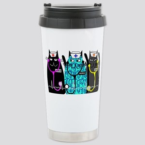 nurse cat NO BACKGROUND Stainless Steel Travel Mug