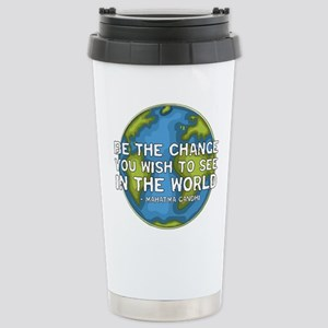Be the Change - Earth - Green Vine Stainless Steel