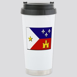 Flag of Acadiana Stainless Steel Travel Mug