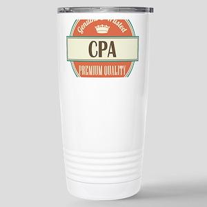 cpa vintage logo Stainless Steel Travel Mug