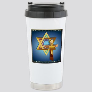 Star Of David and Tripl Stainless Steel Travel Mug