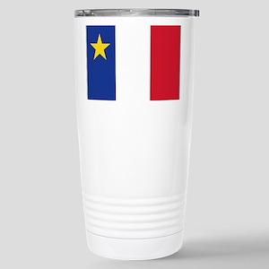 Flag of Acadia Stainless Steel Travel Mug
