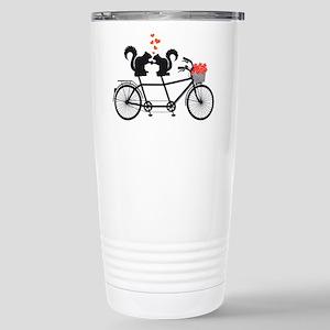 tandem bicycle with squirrels Travel Mug