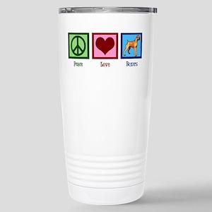 Peace Love Boxer 16 oz Stainless Steel Travel Mug