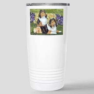 shetlie flower pair Stainless Steel Travel Mug