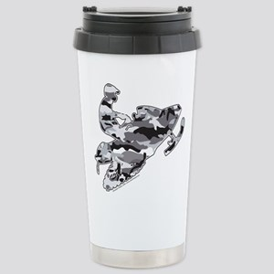 Camouflage Grey Snowmob Stainless Steel Travel Mug