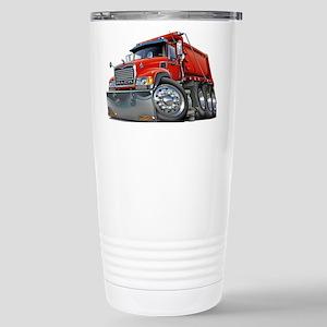 Mack Dump Truck Red Stainless Steel Travel Mug