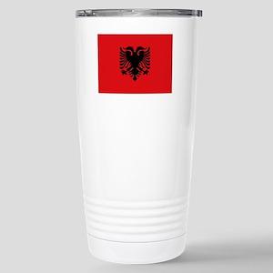 Albanian flag Stainless Steel Travel Mug