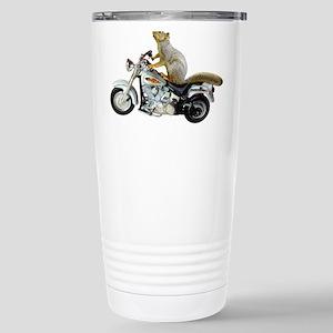 Motorcycle Squirrel Stainless Steel Travel Mug