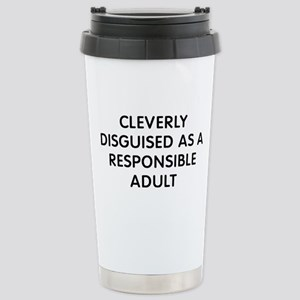 Cleverly Adult 16 oz Stainless Steel Travel Mug