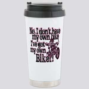 Got My Own Biker Stainless Steel Travel Mug