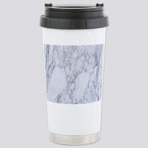 White and Gray Marble S Stainless Steel Travel Mug