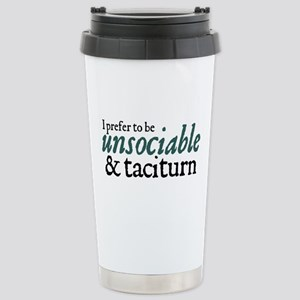 Jane Austen Unsociable Stainless Steel Travel Mug