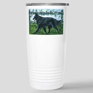 Belgian Sheepdog Patrol Stainless Steel Travel Mug