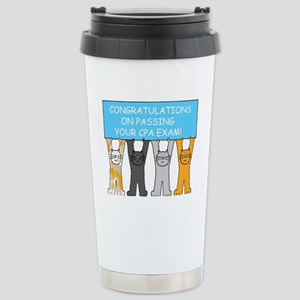 Congratulations on pass Stainless Steel Travel Mug