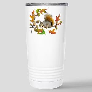 Squirrel Oak Acorns Stainless Steel Travel Mug