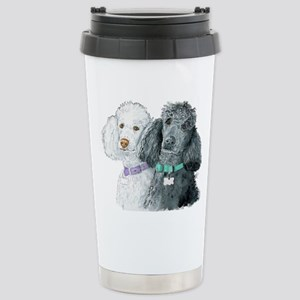Two Poodles Stainless Steel Travel Mug